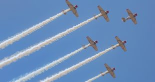 World War II Jets Send Sky-High Message: GEICO Skytypers to Debut at NAS Jacksonville Air Show